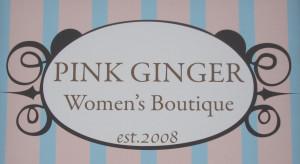 Pink Ginger sign