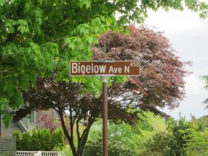 Bigelow Street Sign