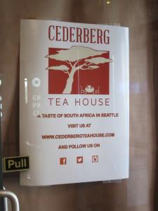 Cederberg Tea sign