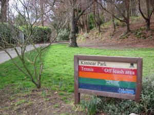 Kinnear Park sign