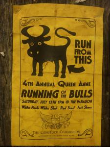 Running of Bulls poster