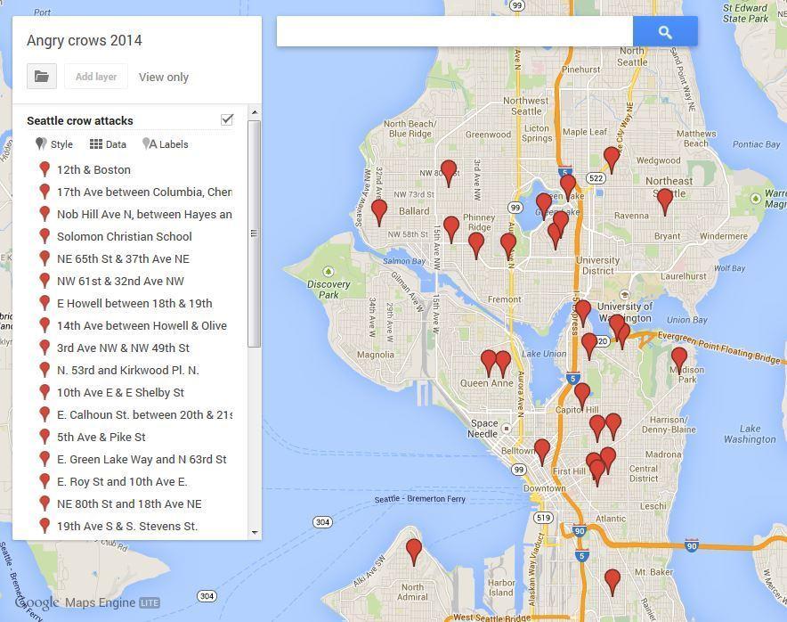Crow Map June 2014