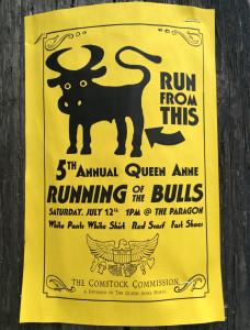 Running of Bulls bull flyer