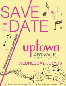 Uptown Art Walk July poster