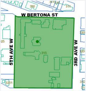 SPU Tent City map