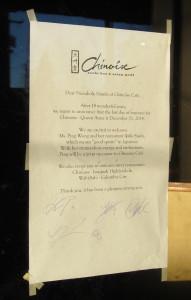 Chinoise closing
