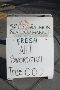 Wild Salmon sandwich