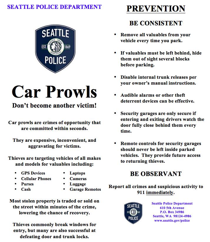 SPD Car Prowls