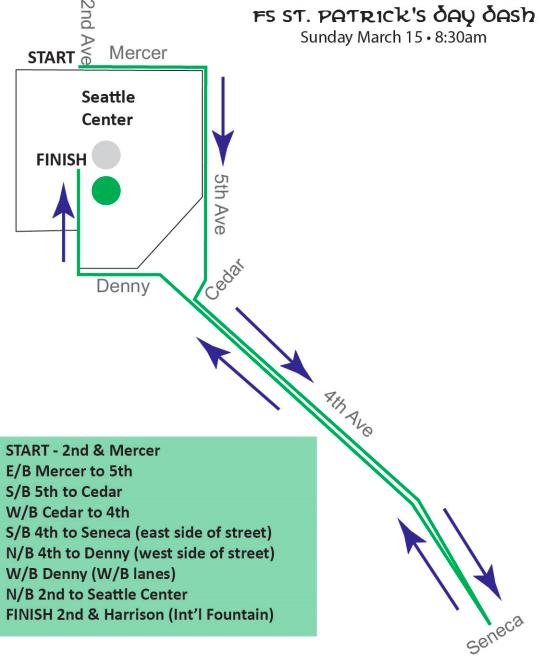 St Pats 2015 Route