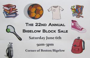 Bigelow Block Sale Save Date 2015