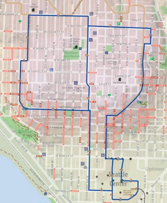 seattle walking map 2010 choice image