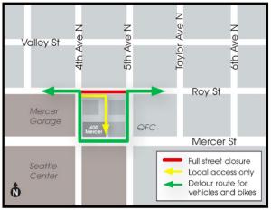 Roy St closure fall 2015