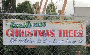 QA Helpline Tree Sign