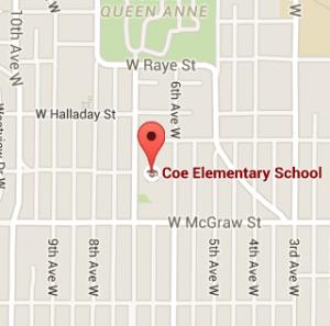 Coe Elementary map