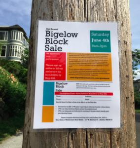 Bigelow Block Sale 2016
